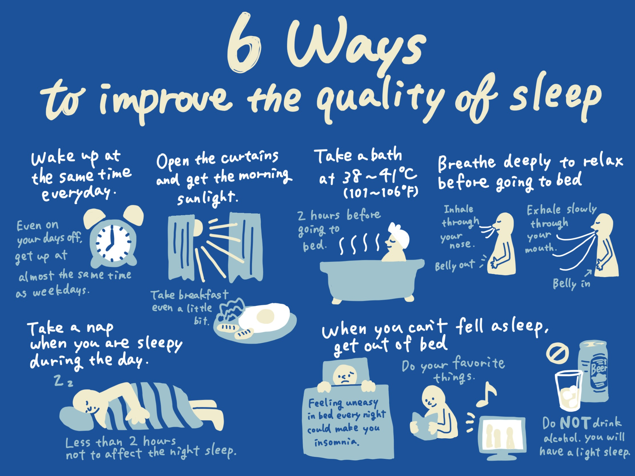 6 ways to improve the quality of sleep