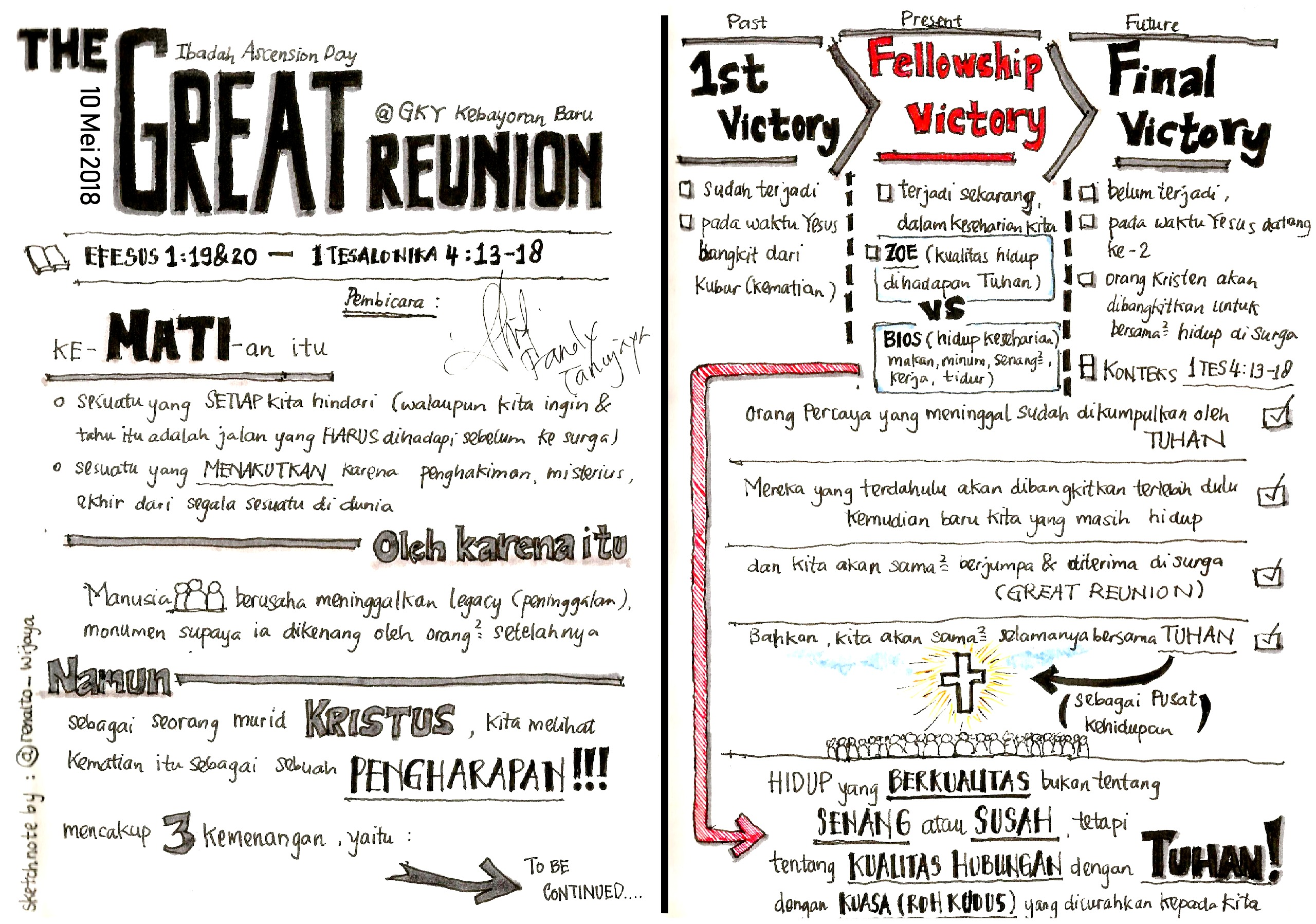 Sermon Note – The Great Reunion Image