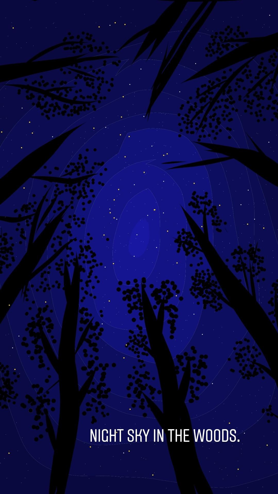 Night scene in the woods Image