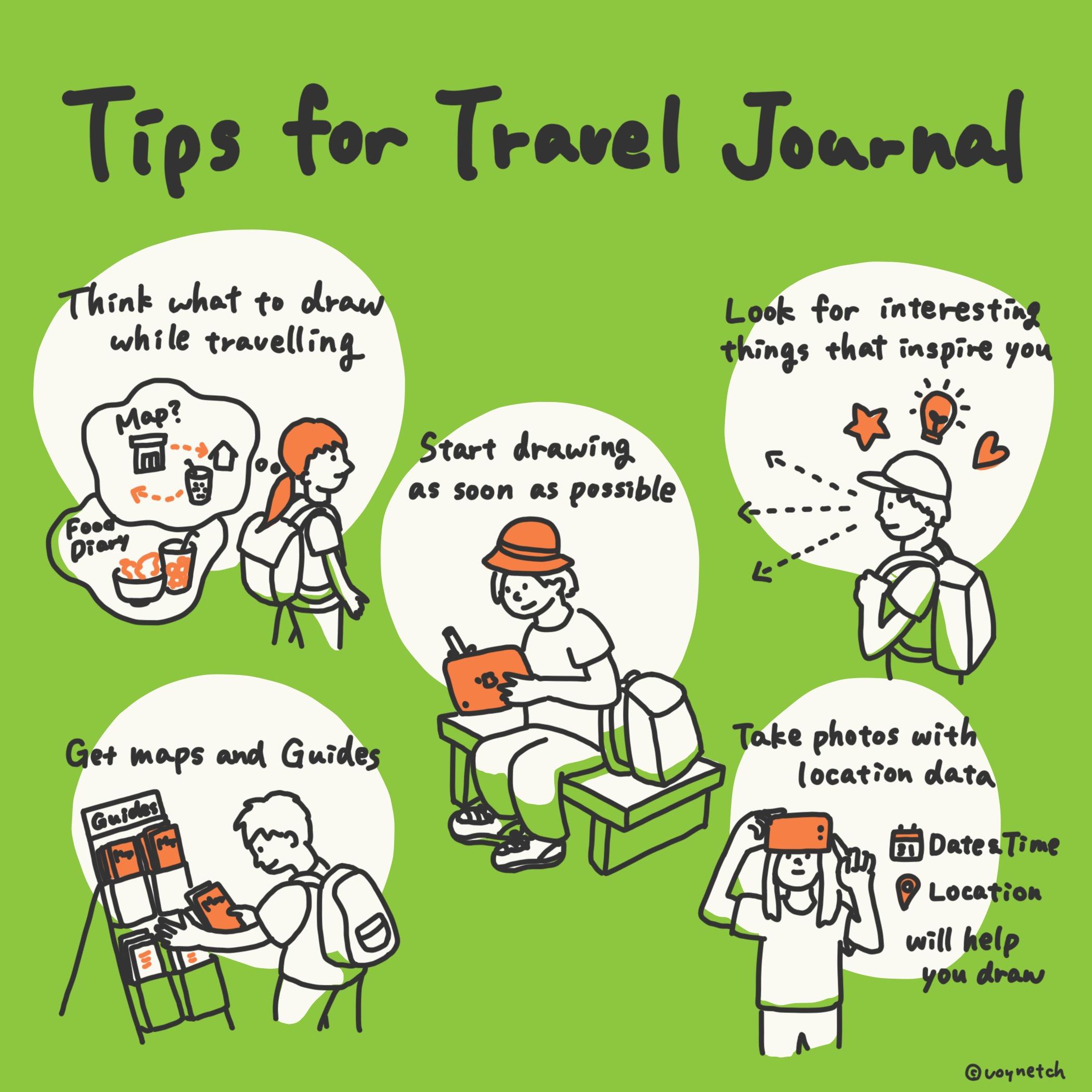 Tips for Travel Journal Image