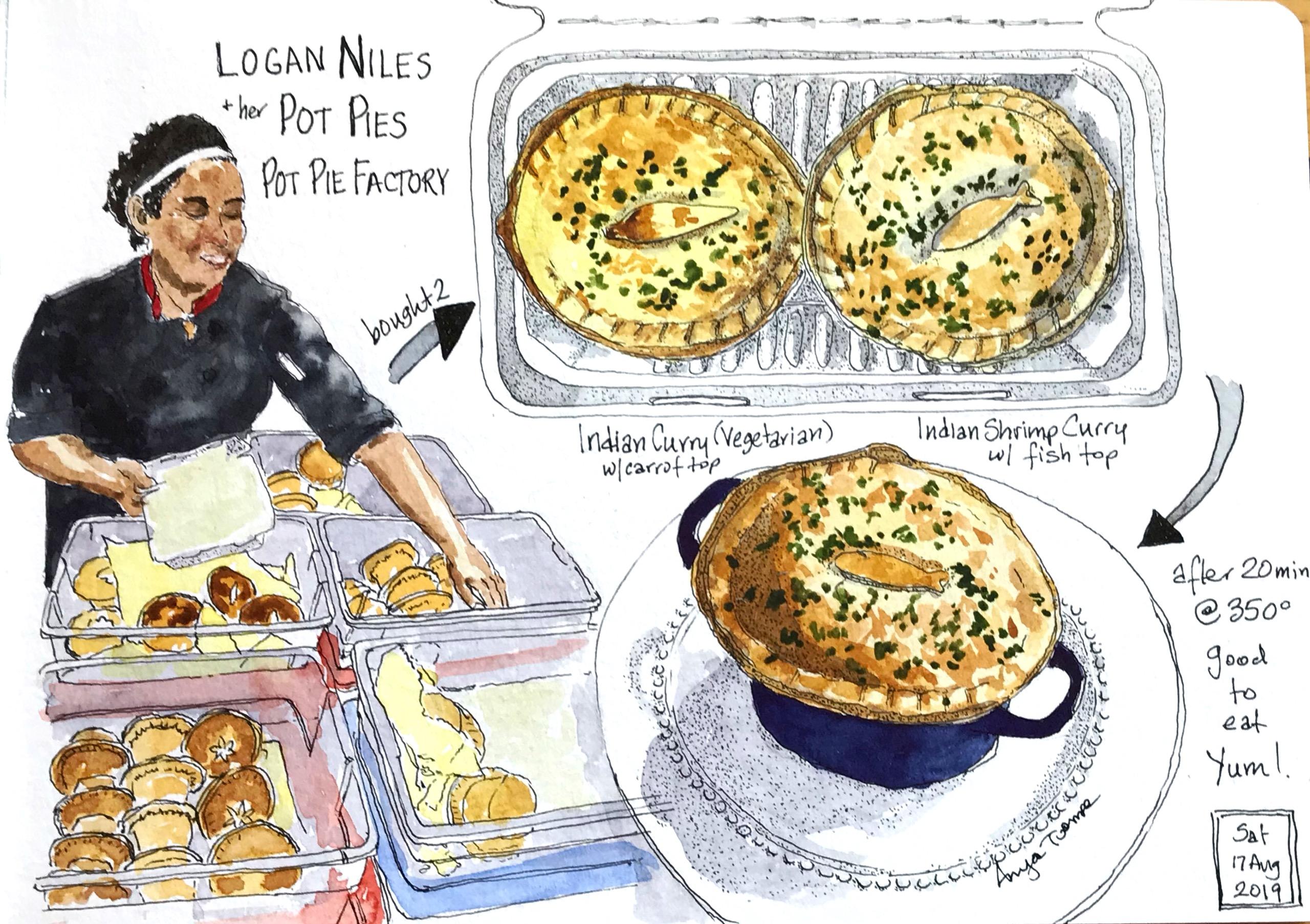 Logan and her Pot Pies! Image