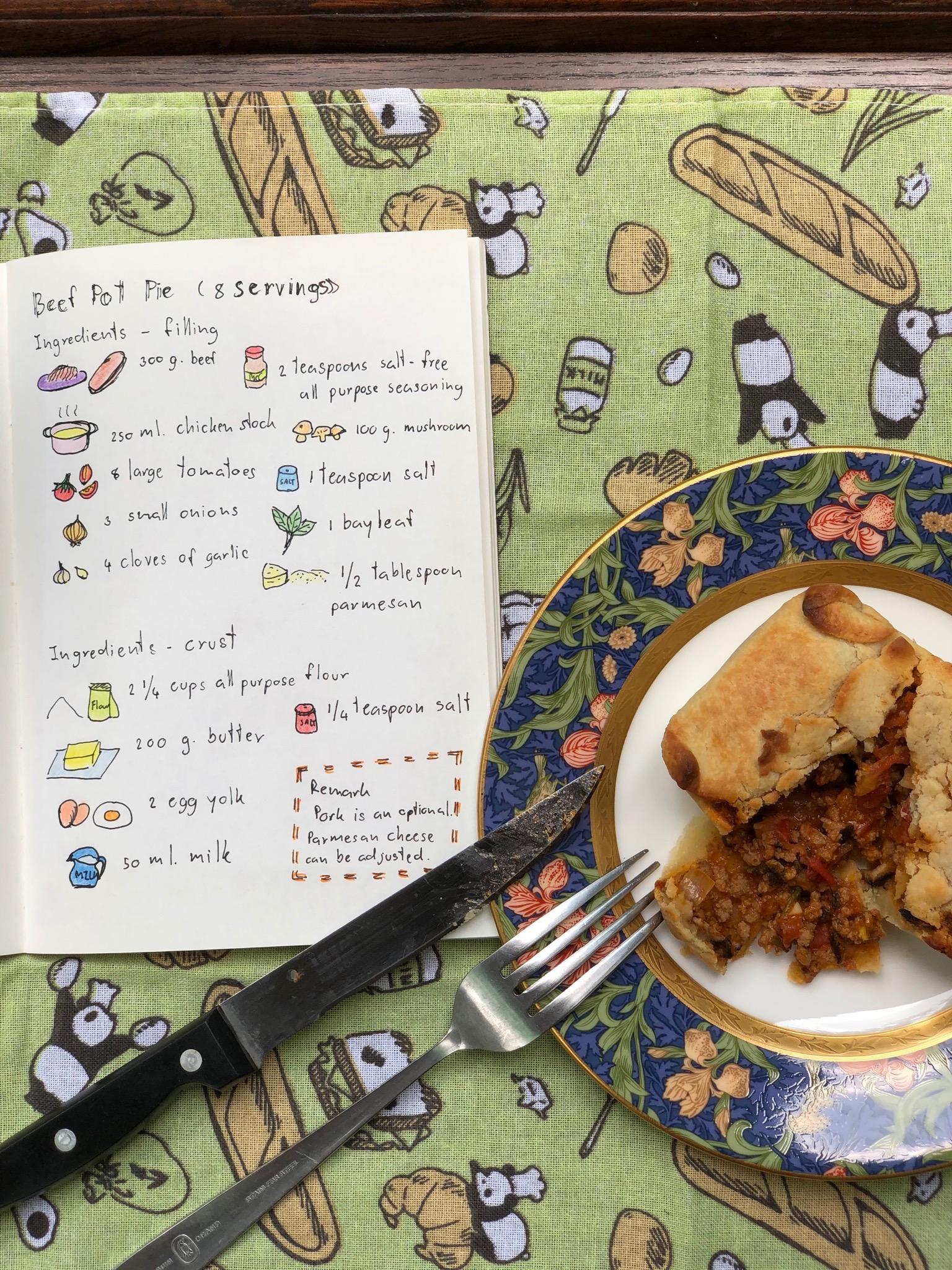 Beef pot pie Image