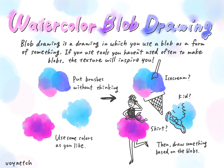 Watercolor Blob Drawing Image (1/1)