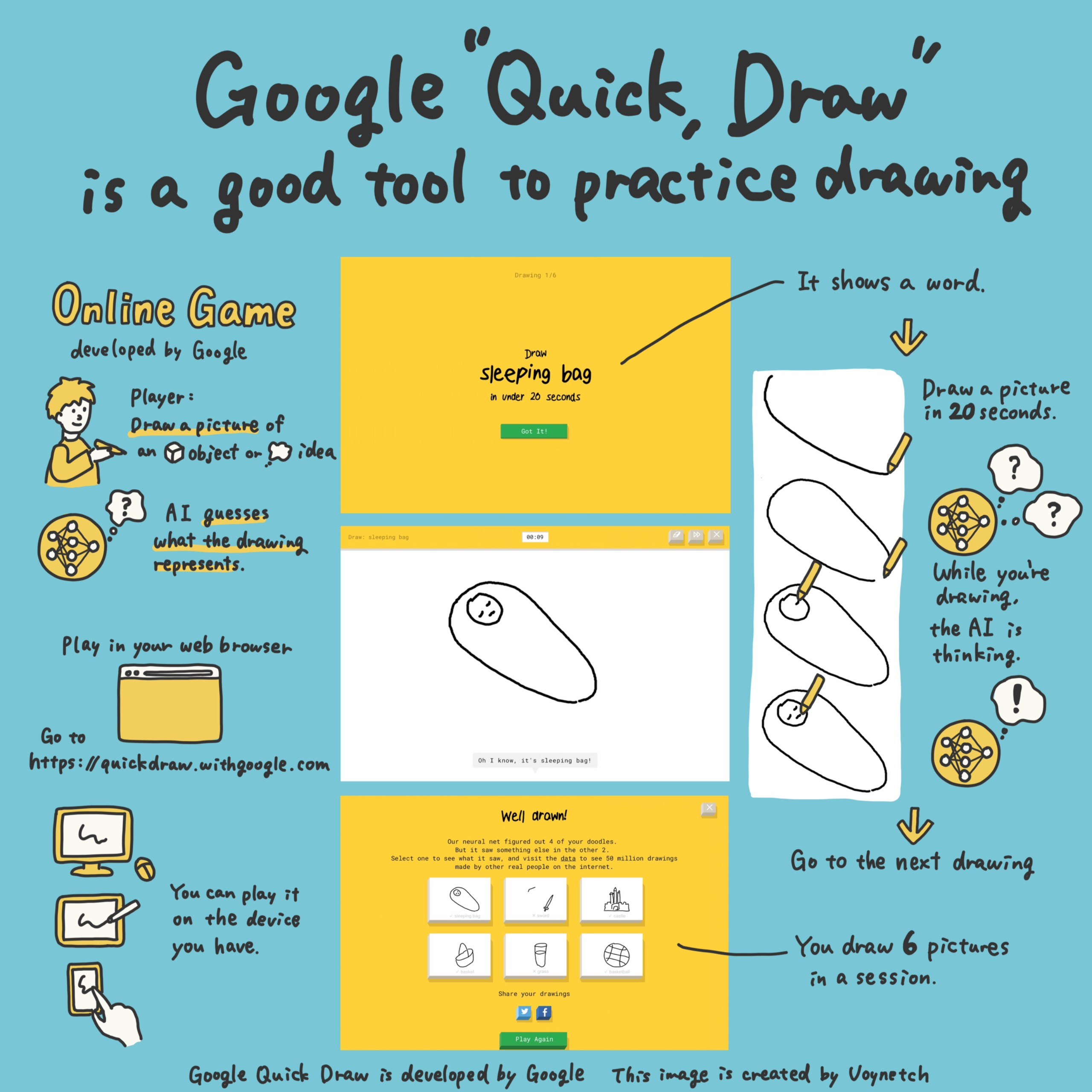 """Google """"Quick, Draw!"""" is a good tool to practice drawing Image (1/2)"""